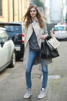 Denim Fall Winter Street Style Fashion.