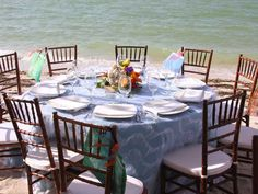 Decoración ideal para una boda en la playa. #Ebodas #Boda #Playa #Decoracion