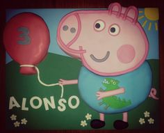 Peppa Pig Cake...ANOTHER FAVORITE OF GEORGE