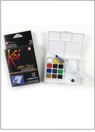 SALE price watercolor set Water filled paintbrush pocket box by PaintBrushLady on Etsy https://www.etsy.com/listing/203060434/sale-price-watercolor-set-water-filled