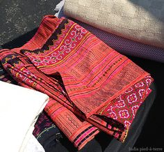 Beautiful Laos textile (? hope I have that right) seen at the Chicago Randolph Street Market from @Eileen Kroll, Mayseek Global Treasures http://www.mayseek.com