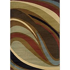 @Overstock - Primary materials: Polypropylene  Pile height: 0.43 inches  Style: Contemporary http://www.overstock.com/Home-Garden/Glendale-Brown-Grey-Area-Rug-78-x-1010/6206531/product.html?CID=214117 $306.99