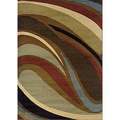 Brown/Grey Area Rug (7'8 x 10'10)