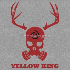 True Detective - Yellow King Gas Mask - Red