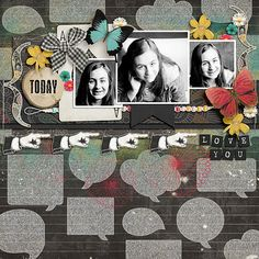 Love You TodayKit: Chapter 1 - Chalk It Up by Etc by Danyale Also available as a collection bundle Lifetime Stories Bundle by Etc by Danyale Template: Beautiful Ride Dressed Up Templates by Fiddle Dee Dee Designs