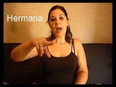 Dias de la semana verbos familia numeros 20 al 40 lengua de signos Española Hablemos con las manos - YouTube
