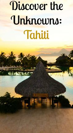 Tahiti is Just as beautiful as Bora Bora!! Discover theUnknowns:Tahitian  Many persons may not be aware of Polynesia. However, this area is a sub-region of Oceania, made up of over 1,000 Islands. Destination, Travel, Vacation, Tahiti.