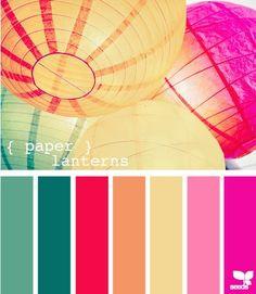 Papel linterna.  Paleta de colores