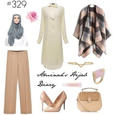 This is an example of how to wear it longer blouse and pants. I don't particularly like light colored blouses because of the times are see-through. Street Hijab Fashion, Abaya Fashion, Muslim Fashion, Modest Fashion, Fashion Outfits, Womens Fashion, Hijab Dress, Hijab Outfit, Hijab Fashionista