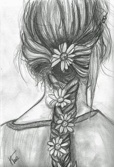 peaceful flower braid, like you've been playing in the woods all day...