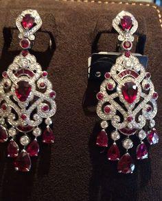 Officialfabergé - Incredible rubies and diamonds earrings @mm_diamondsjewellers