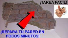 Como reparar grietas y daños en la pared. Arreglo de revoque por problem...