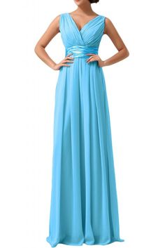Victoria Dress Sexy V-neck Evening Dresses Ruffled Empire Wedding Party Gowns at Amazon Women's Clothing store: