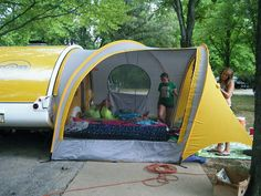 Lteardrop with thermarest awning