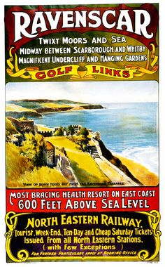 Mixed Media - North Eastern Railway - Robin Hood's Bay From The Revenscar Terraces - Retro Travel Poster by Studio Grafiikka , British Travel, British Seaside, British Isles, Posters Uk, Railway Posters, Train Posters, Retro Posters, Robin Hoods Bay, Northern England