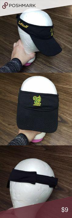 Augusta Sportswear Softball Black Visor Great shape. One size Augusta Sportswear Accessories Hats
