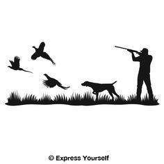 pheasant hunting decals for truck | our products decals stickers silhouette decals mural decals