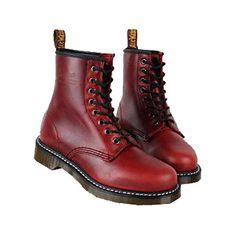 Dr. Martens Mens Boots 1460 Vintga Punk Black Red $125.00