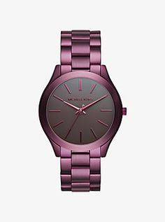 Slim Runway Plum-Tone Watch by Michael Kors