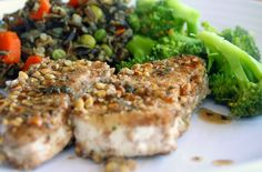 walnut crusted halibut1with balsamic drizzle