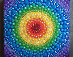 Lover of Animals, Color, and Light. by InspiredHeartArt Rainbow Chakra Mandala Painting Mandala Art, Mandala Rocks, Mandala Painting, Pebble Painting, Mandala Pattern, Dot Painting, Stone Painting, Painting Templates, Design Tattoo