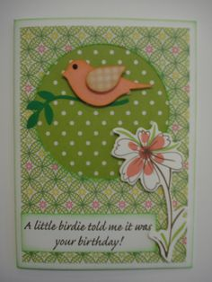 My Stampin Up bird punch in action yet again.