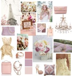 Color palette rose gold, mauve, lavender, pinky peach