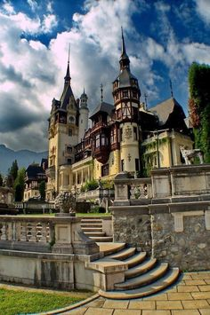 A castle in Romania. Note the tall spires...
