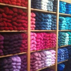 Cascade 220 wall at Stitches in Time in Howell, MI - http://www.stitchintimehowell.com/Stitch_In_Time/Welcome.html
