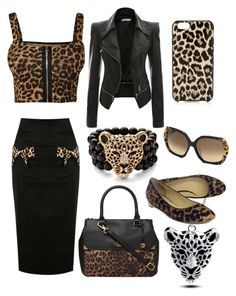 """Like a Leopard"" by ingridmv ❤ liked on Polyvore featuring Fiorelli, Roberto Cavalli, WearAll, Kate Spade, Cole Haan, Palm Beach Jewelry, leopard and animalprint"