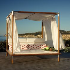 Antigua Canopied Daybed with Cushions - Frontgate