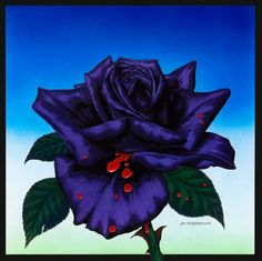 Jonathan's black rose tattoo - from the Thin Lizzy album cover designed by Jim Fitzpatrick