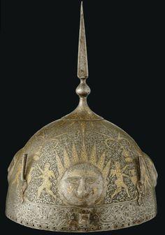 Traditional Persian Helmet of Qajar Era