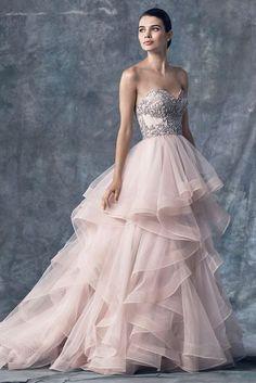 Watters sweetheart blush wedding dress - Deer Pearl Flowers / http://www.deerpearlflowers.com/wedding-dress-inspiration/watters-sweetheart-blush-wedding-dress/
