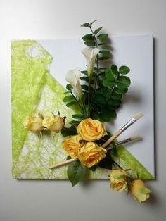 Superbe Composition Florale Sur Toile   Les Créations Déco De Marsouille