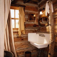 1000 images about cabins man caves on pinterest small for Lake cottage bathroom ideas