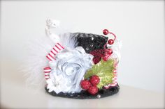Over the Top Frosty the Snowman Mini Top Hat Headband  - Perfect Holiday Photo Prop