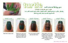 Turtle Nail Tutorial! Ninja Nail Polish Lacquer Floam Holographic metallic effect nail polish @opulentnails #ninjanails #floam