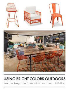 Check out the blog for complete post! || Hibner Design Group #outdoorliving #colorpop #outdoorfurniture