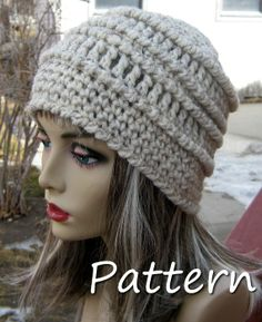 PDF Pattern Chunky Textured Crochet Beanie - CAN sell finished pieces.