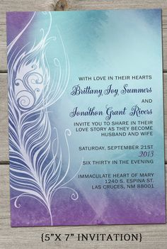 Ombre Modern Fun Wedding Invitation Essential by TheFunkyOlive, $55.00