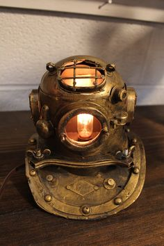 Divers Helmet Table Light by industrialighting. Explore more products on http://industrialighting.etsy.com