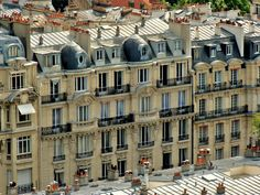 Across the mansard roofs of Paris from Sacre Coeur Mansard Roof, Multi Story Building, France, Houses, Sacred Heart, Homes, Home, House, Attic Loft
