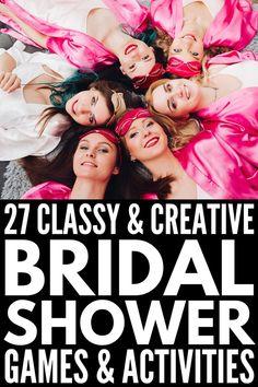 Ideas Simple Bridal Shower Games Activities For 2019 Bridal Shower Activities, Fun Bridal Shower Games, Bridal Bingo, Bridal Shower Decorations, Bridal Shower Gifts, Bridal Shower Invitations, Bridal Games, Classy Bachelorette Party, Simple Bridal Shower