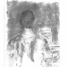 """The pianist"" (Charcoal from life)"