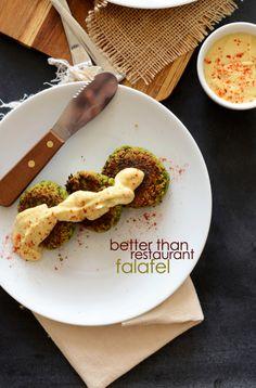 Secret ingredient in this easy food processor falafel: collard greens! Tasty way to get your greens.