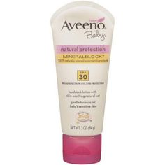 Aveeno Baby Natural Protection SPF 30 Sunblock Lotion, 3 oz