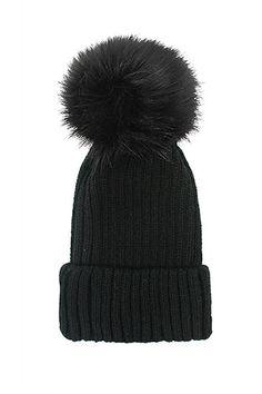695b96179b8 Fox Fur Pom Pom Beanie