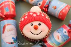 Snowman 1 by Victorious Cupcakes,