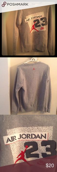Nike Air Jordan Retro  crewneck sweatshirt XL Men's long sleeve Nike Sweaters Crewneck